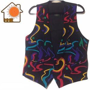 Vintage Favourbrook Handmade Multicolor Funky Vest